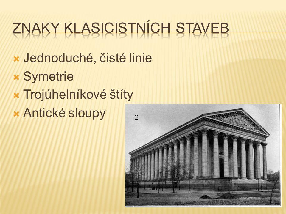 Znaky klasicistních staveb