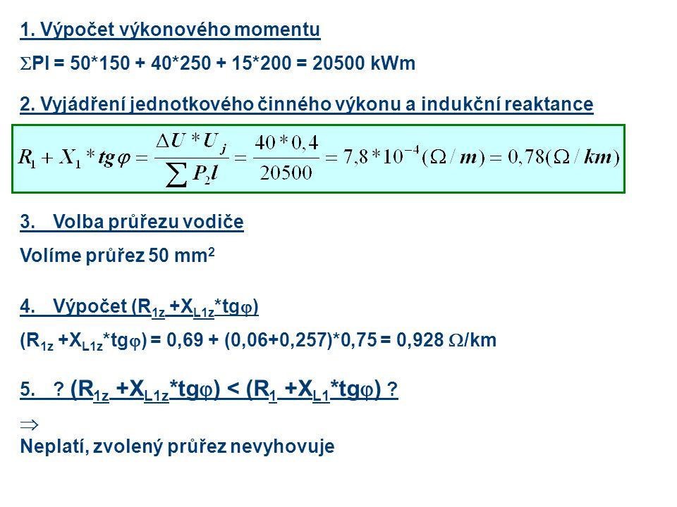 1. Výpočet výkonového momentu