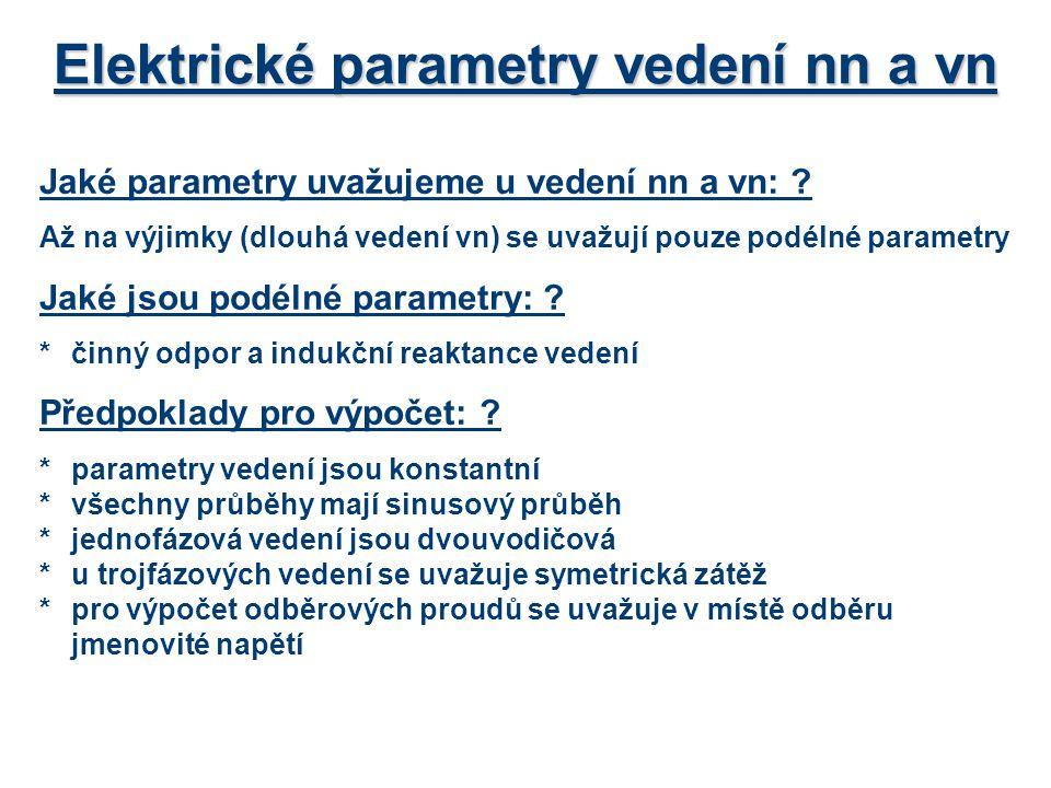 Elektrické parametry vedení nn a vn