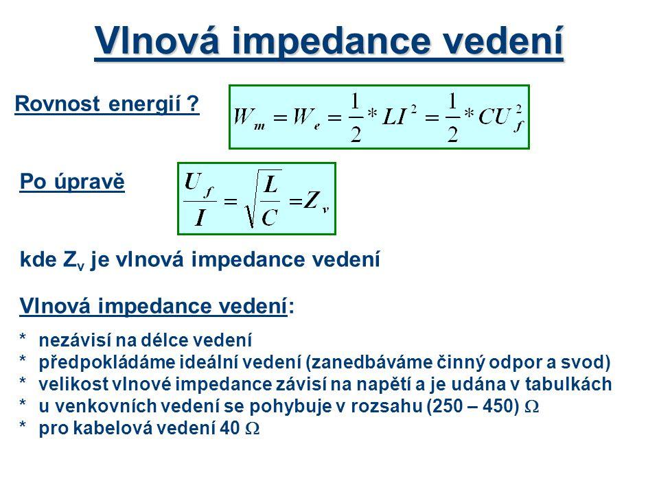 Vlnová impedance vedení