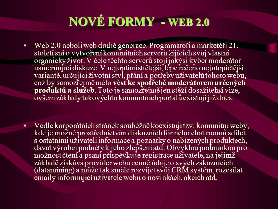 NOVÉ FORMY - WEB 2.0