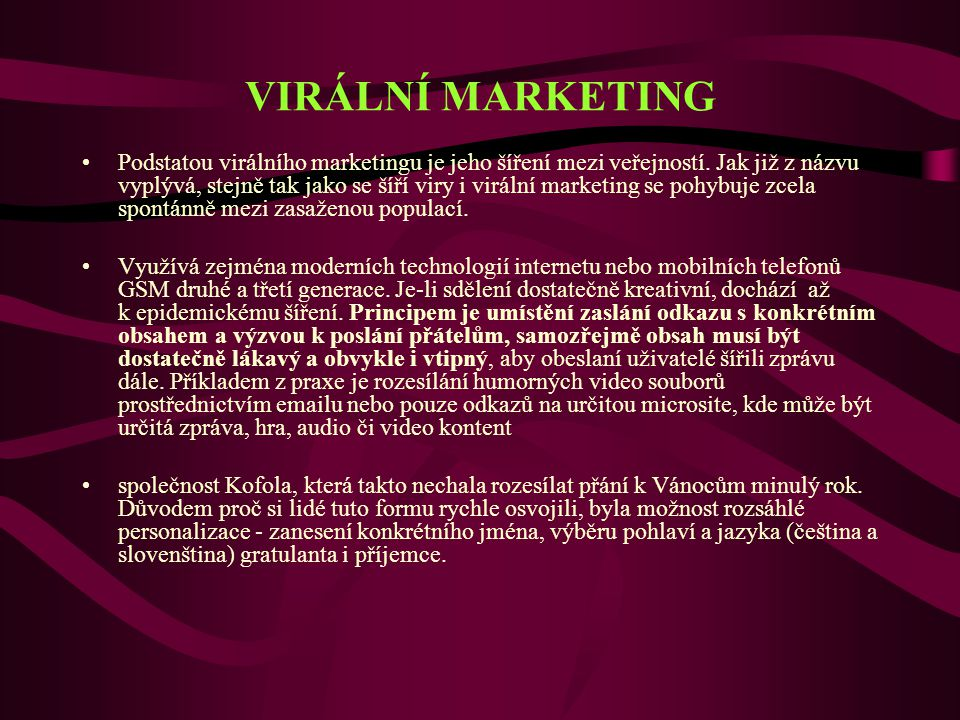 VIRÁLNÍ MARKETING