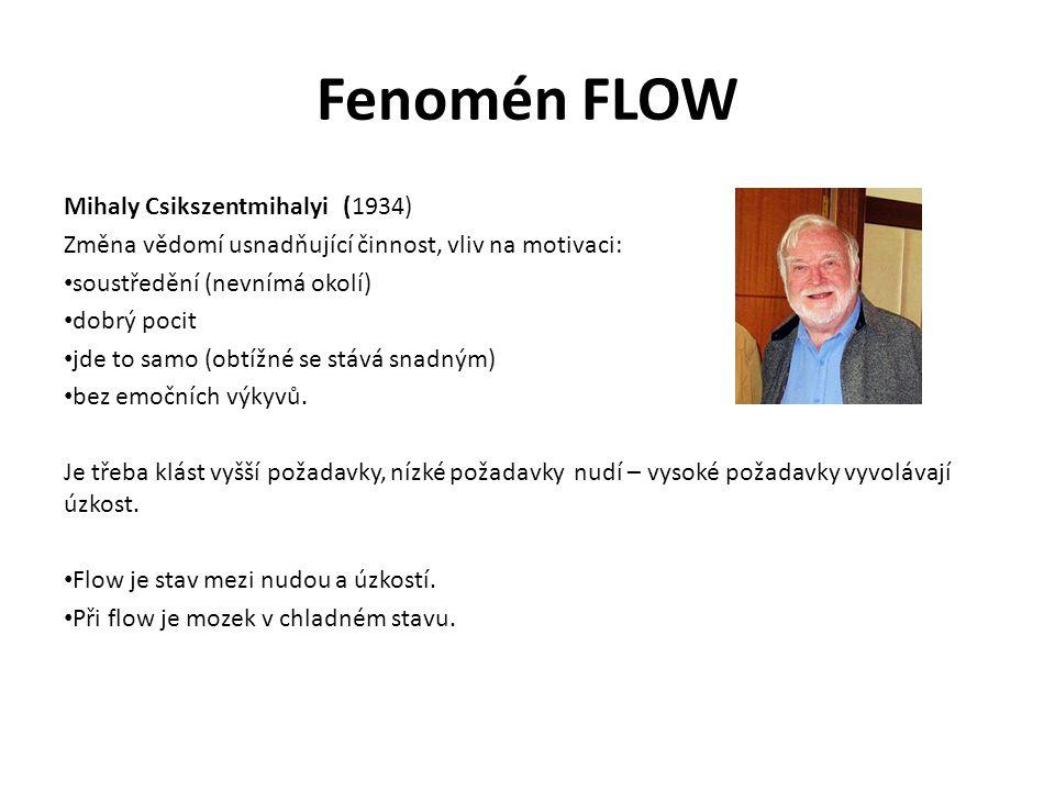 Fenomén FLOW Mihaly Csikszentmihalyi (1934)