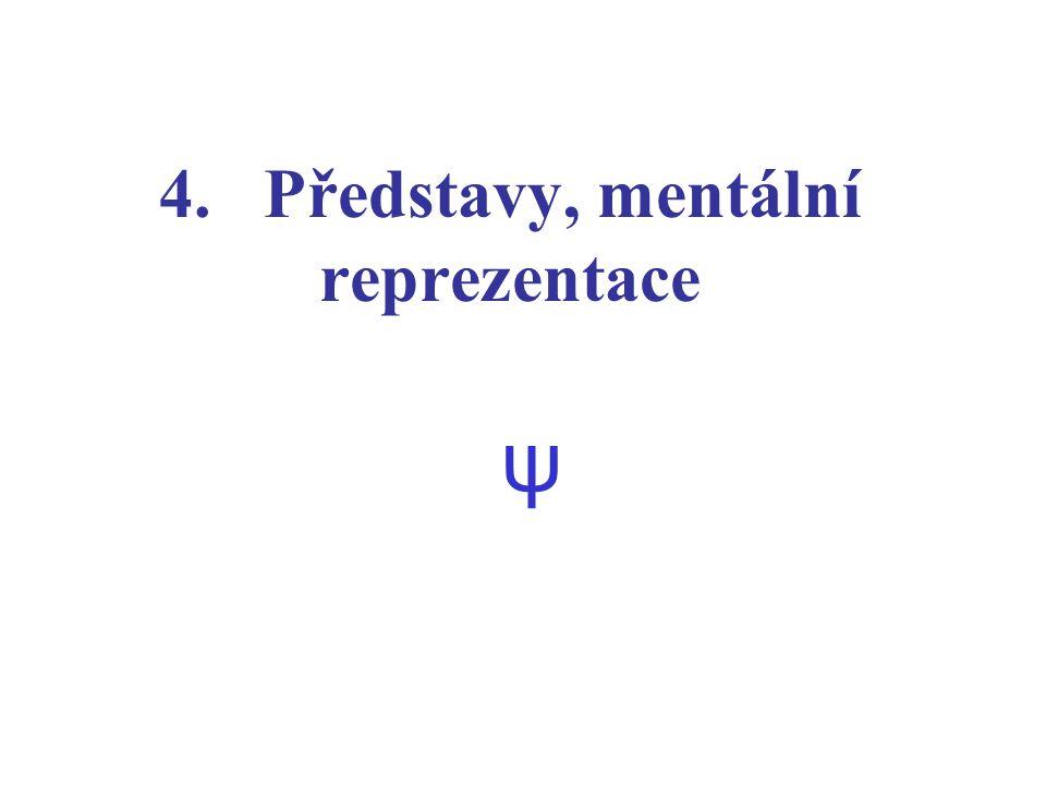 4. Představy, mentální reprezentace