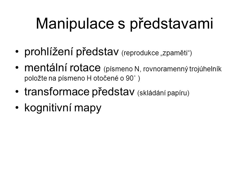 Manipulace s představami