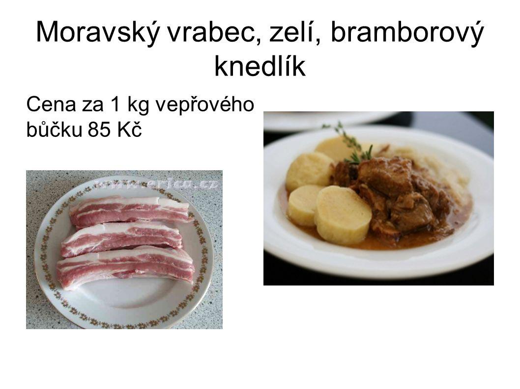 Moravský vrabec, zelí, bramborový knedlík