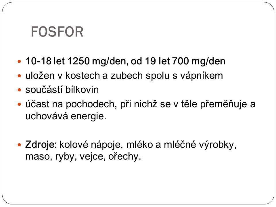 FOSFOR 10-18 let 1250 mg/den, od 19 let 700 mg/den