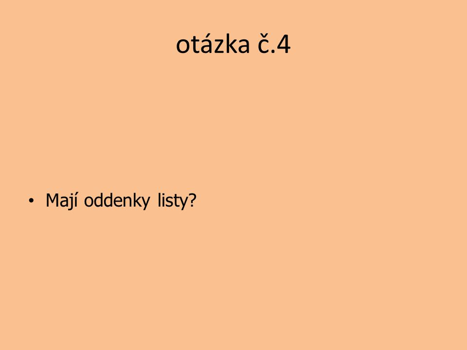 otázka č.4 Mají oddenky listy