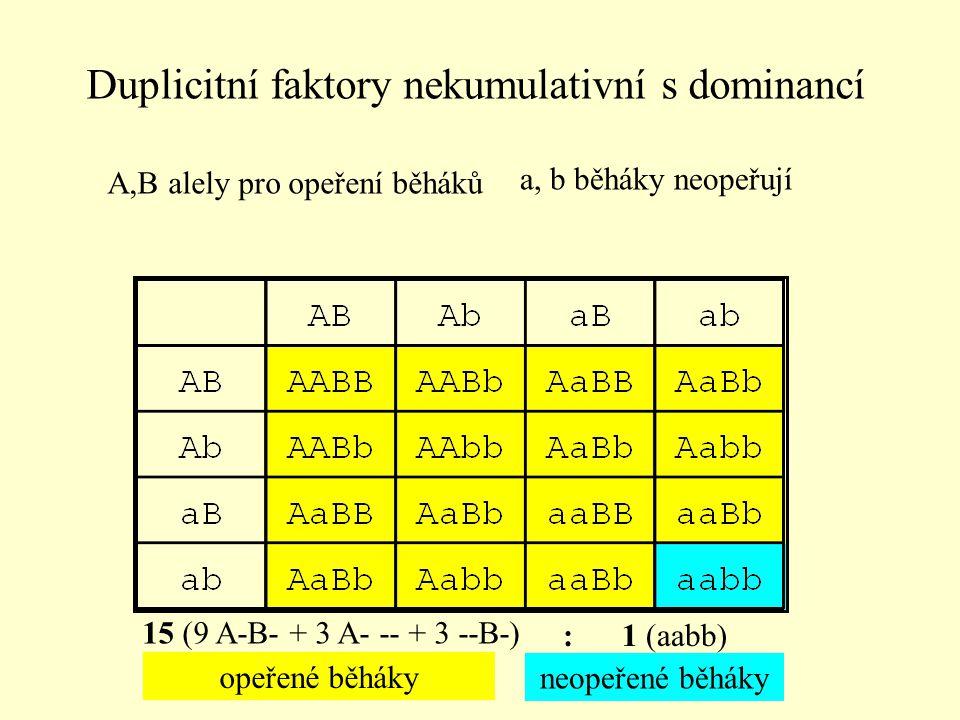 Duplicitní faktory nekumulativní s dominancí