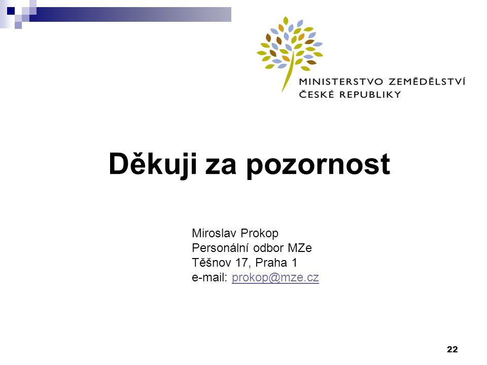 Děkuji za pozornost Miroslav Prokop Personální odbor MZe