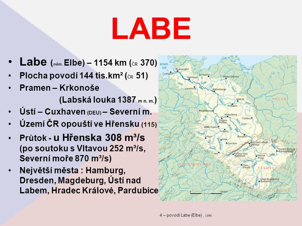 4 – povodí Labe (Elbe) , (de)