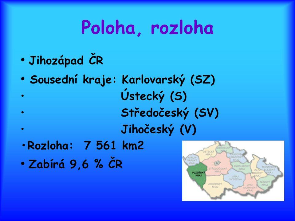 Poloha, rozloha • Jihozápad ČR • Sousední kraje: Karlovarský (SZ)