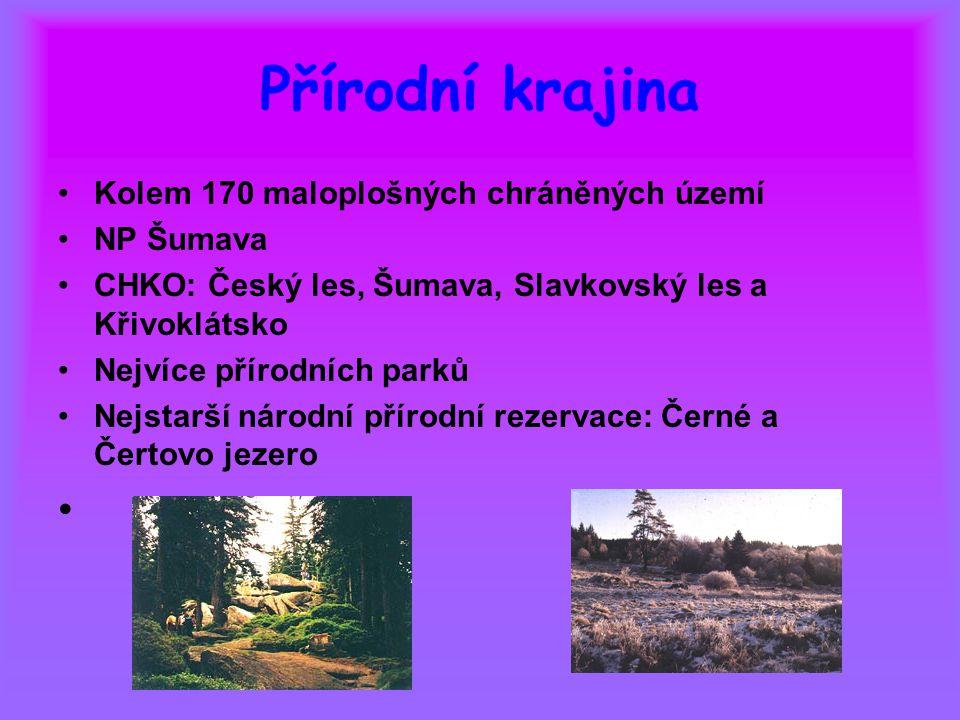 Přírodní krajina Kolem 170 maloplošných chráněných území NP Šumava