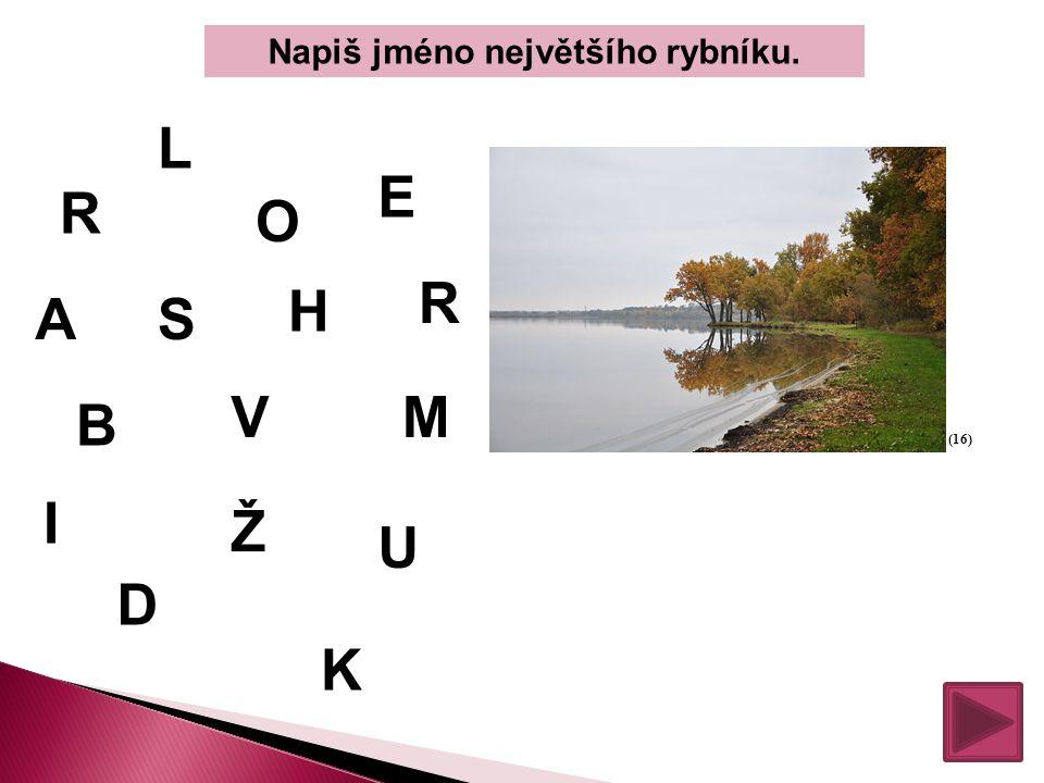 Napiš jméno největšího rybníku.
