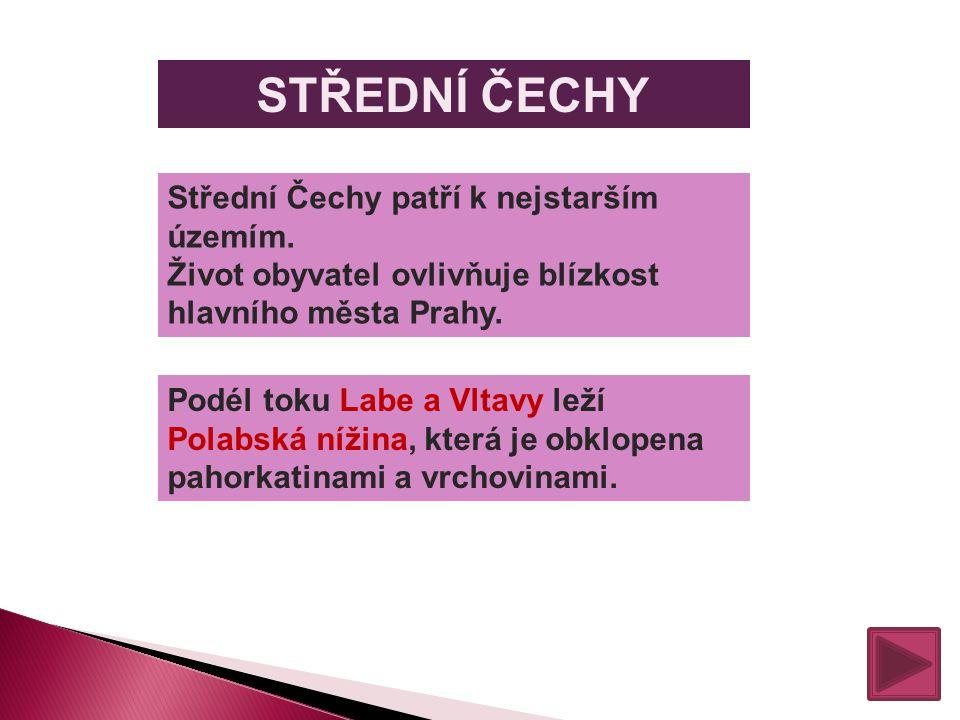 STŘEDNÍ ČECHY Střední Čechy patří k nejstarším územím.