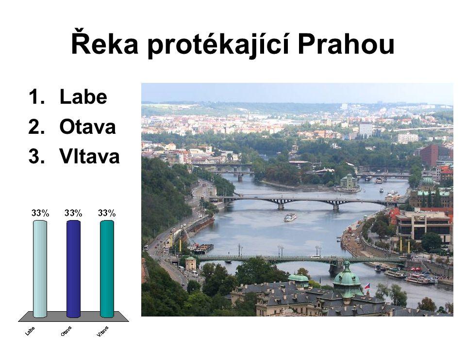 Řeka protékající Prahou