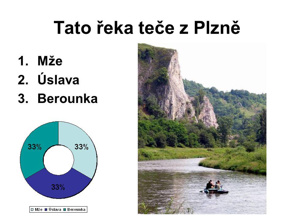 Tato řeka teče z Plzně Mže Úslava Berounka