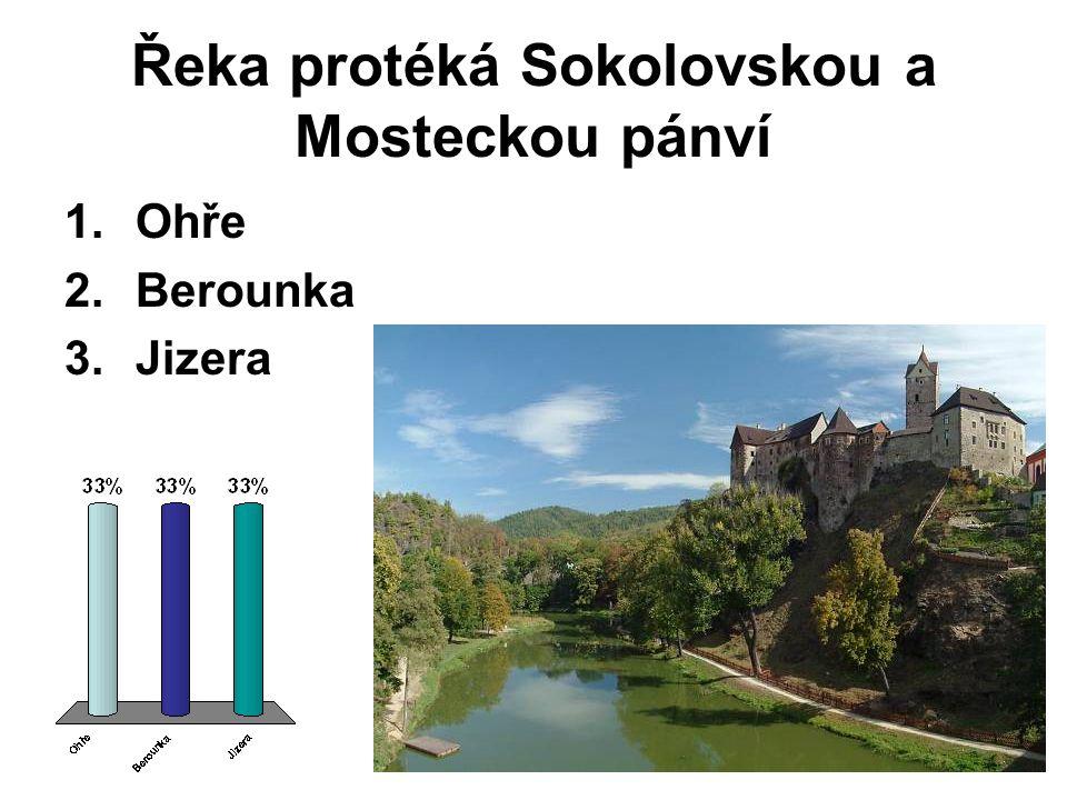 Řeka protéká Sokolovskou a Mosteckou pánví