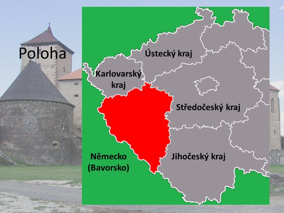 Poloha Ústecký kraj Karlovarský kraj Středočeský kraj Německo