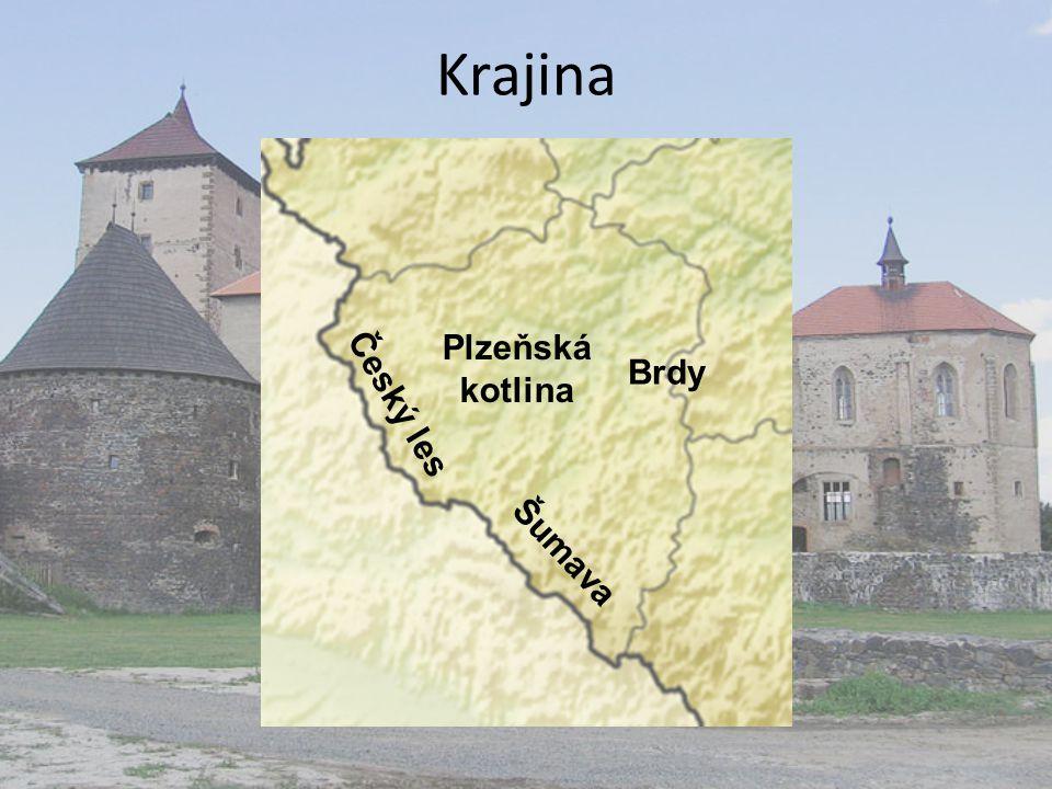 Krajina Plzeňská kotlina Brdy Český les Šumava