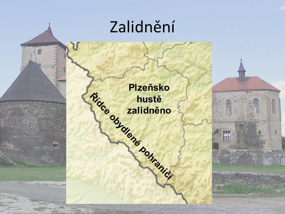 Plzeňsko hustě zalidněno