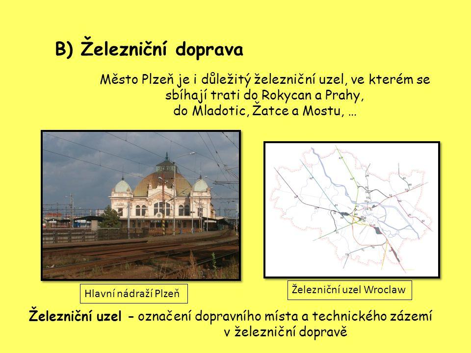označení dopravního místa a technického zázemí v železniční dopravě