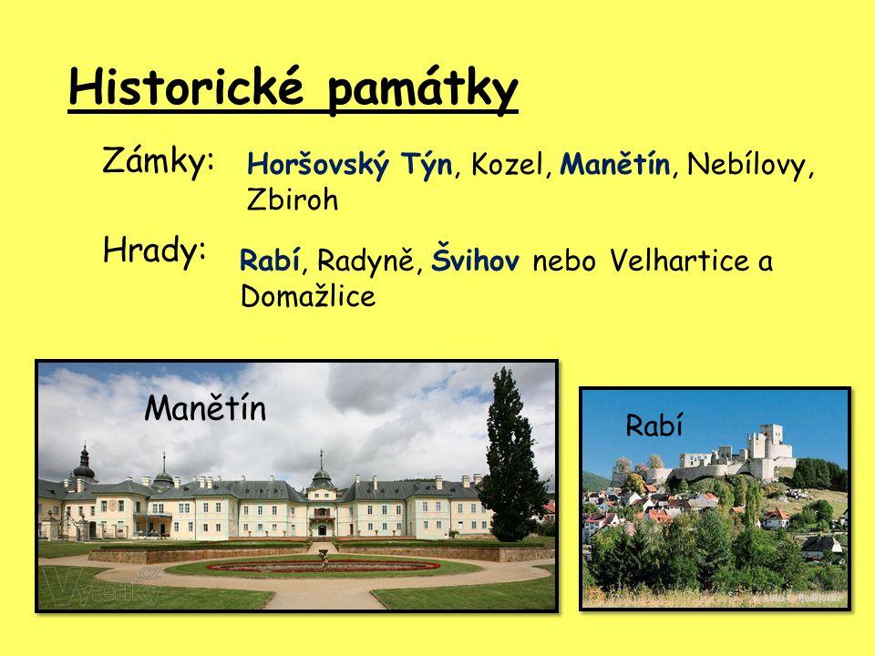 Historické památky Zámky: Hrady: Manětín