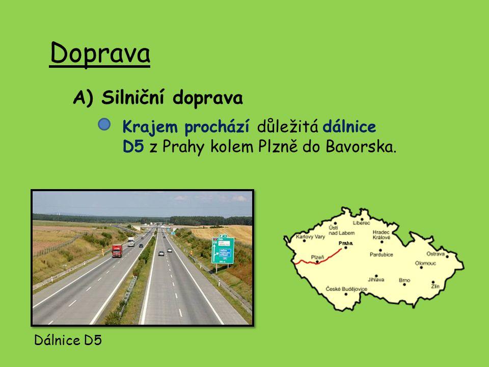 Doprava A) Silniční doprava