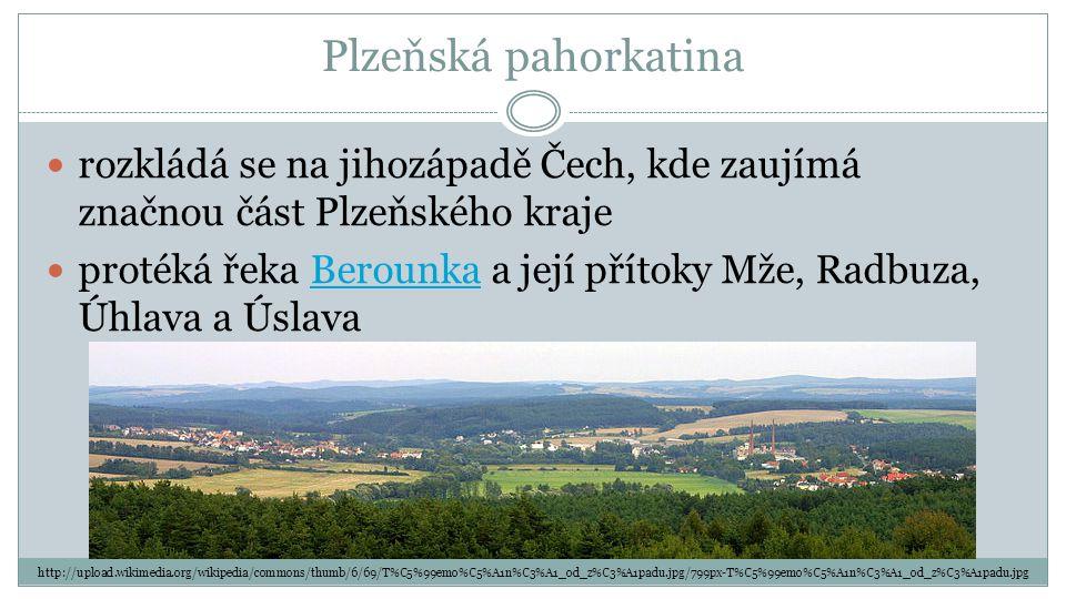 Plzeňská pahorkatina rozkládá se na jihozápadě Čech, kde zaujímá značnou část Plzeňského kraje.