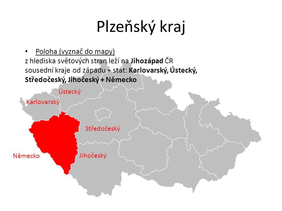 Plzeňský kraj Poloha (vyznač do mapy)