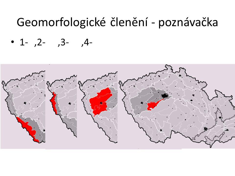 Geomorfologické členění - poznávačka