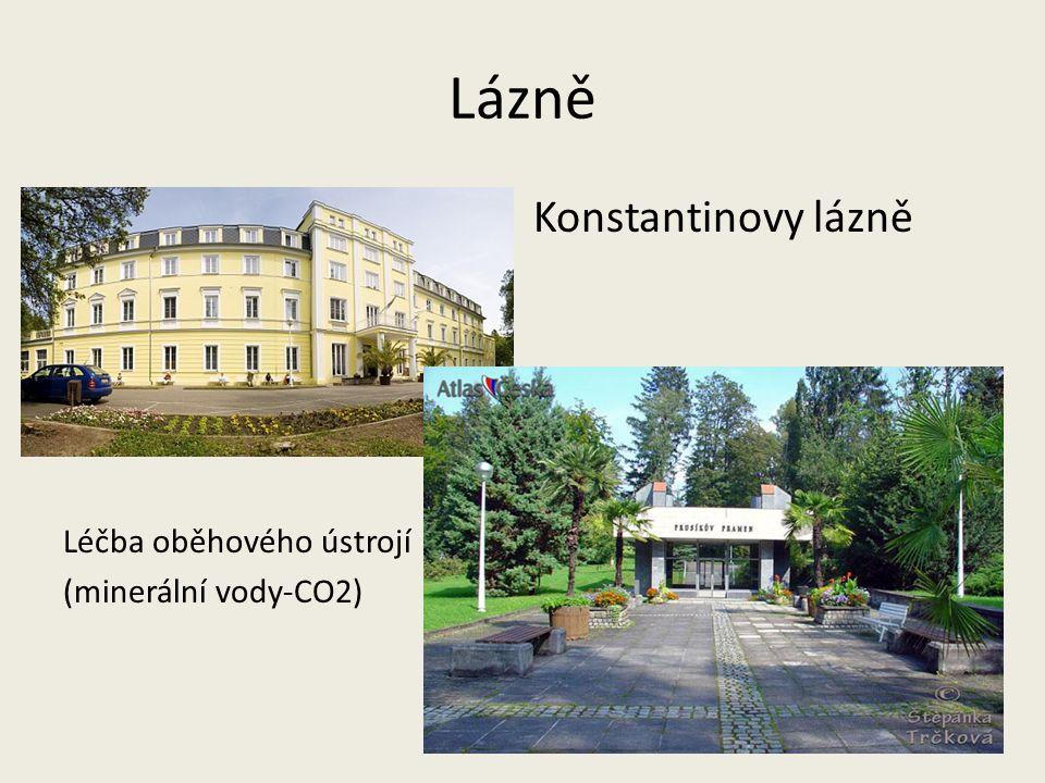Lázně Konstantinovy lázně Léčba oběhového ústrojí (minerální vody-CO2)