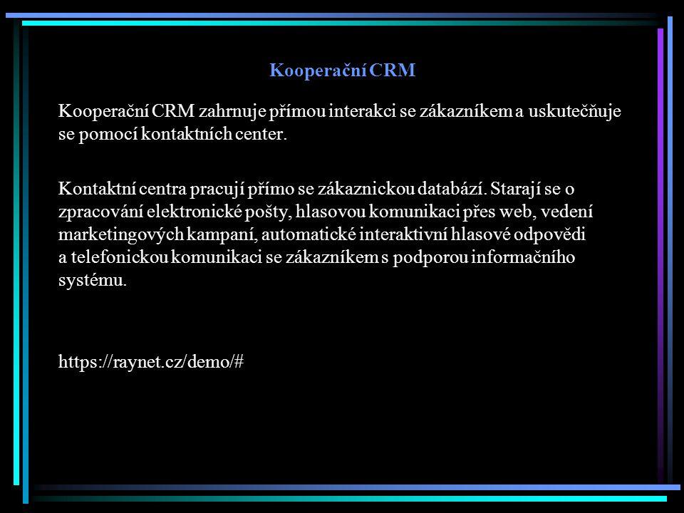 Kooperační CRM