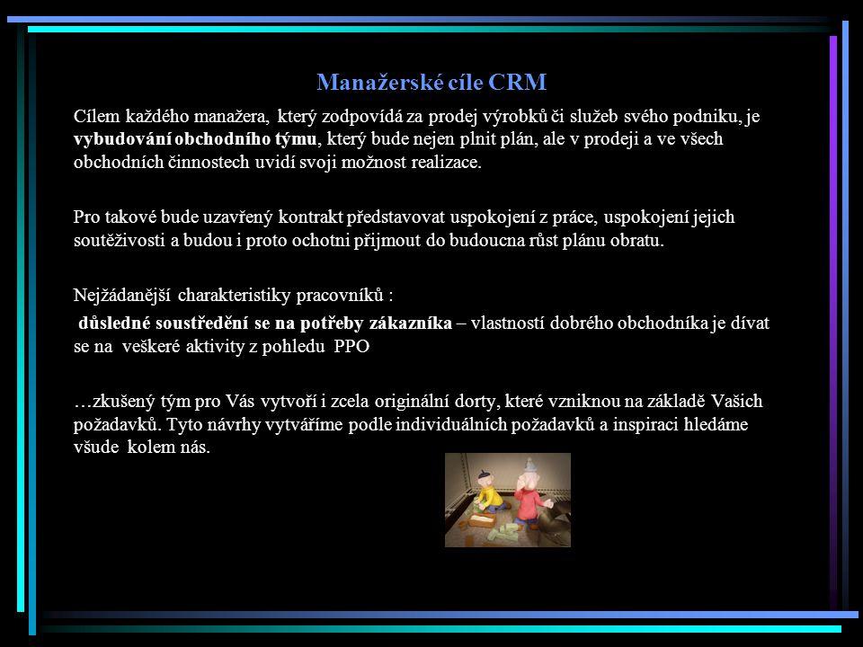 Manažerské cíle CRM