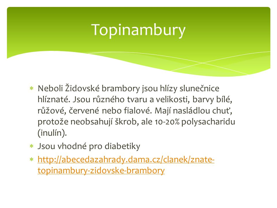 Topinambury