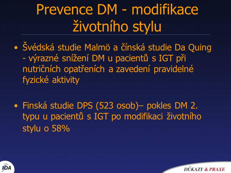 Prevence DM - modifikace životního stylu