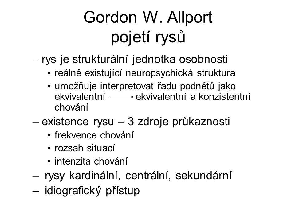 Gordon W. Allport pojetí rysů