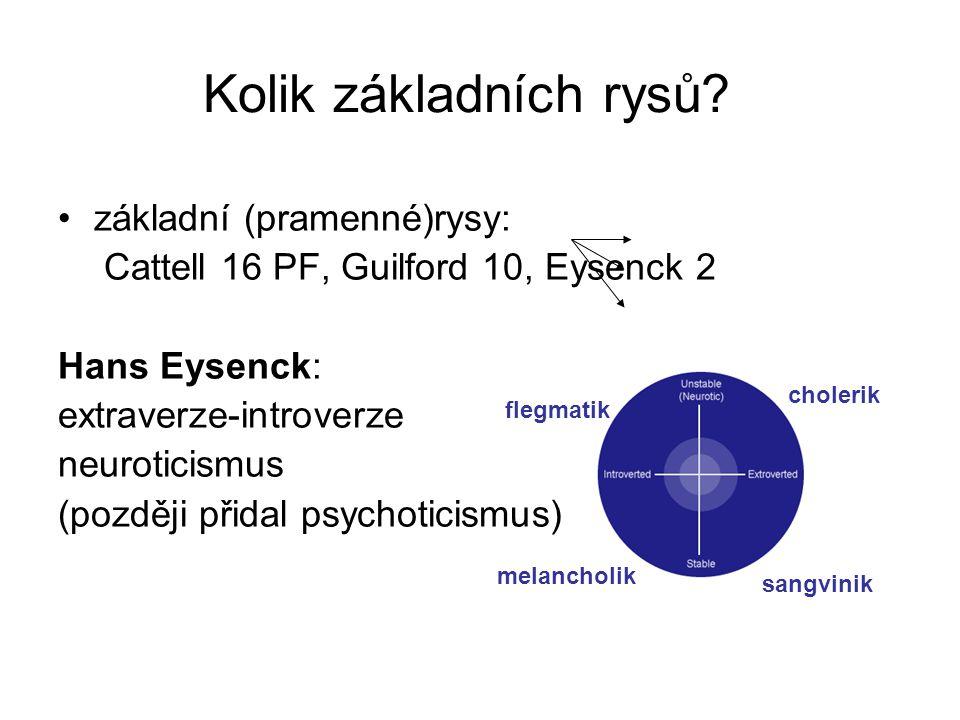 Kolik základních rysů základní (pramenné)rysy: