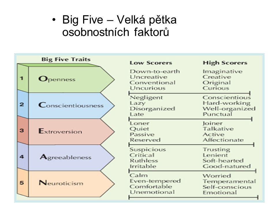 Big Five – Velká pětka osobnostních faktorů