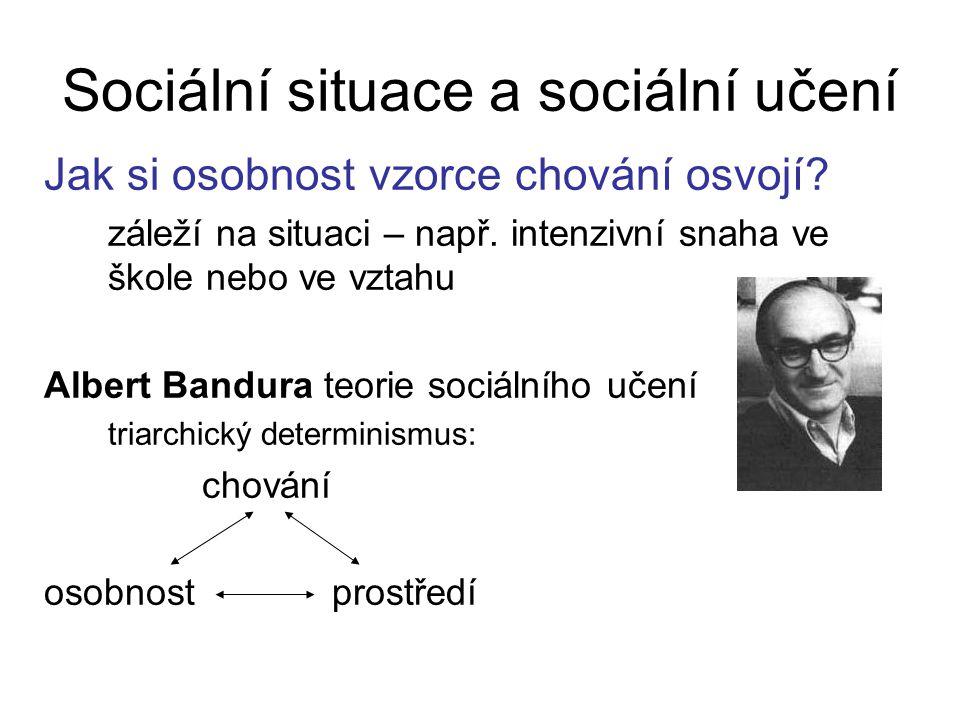 Sociální situace a sociální učení