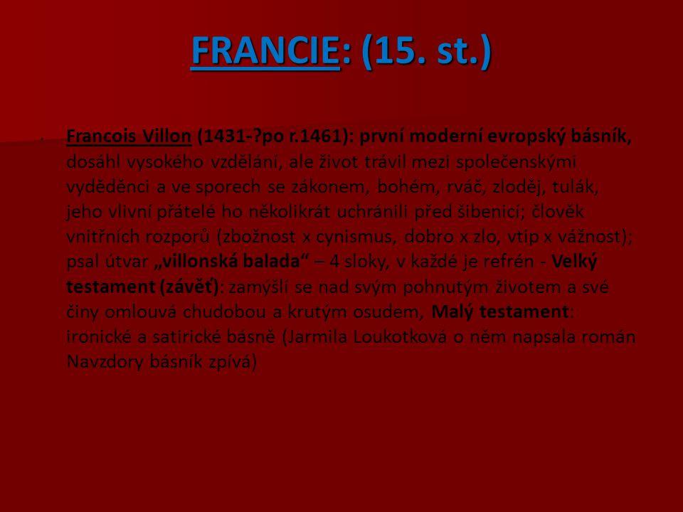 FRANCIE: (15. st.)