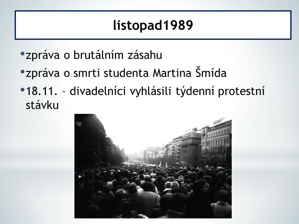 listopad1989 zpráva o brutálním zásahu