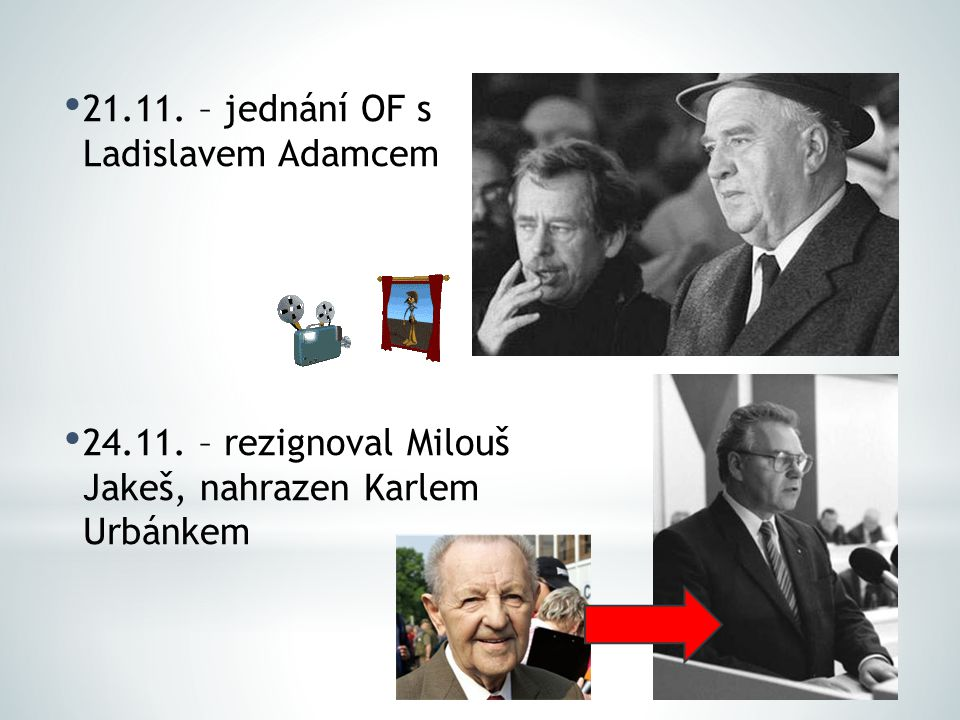21.11. – jednání OF s Ladislavem Adamcem