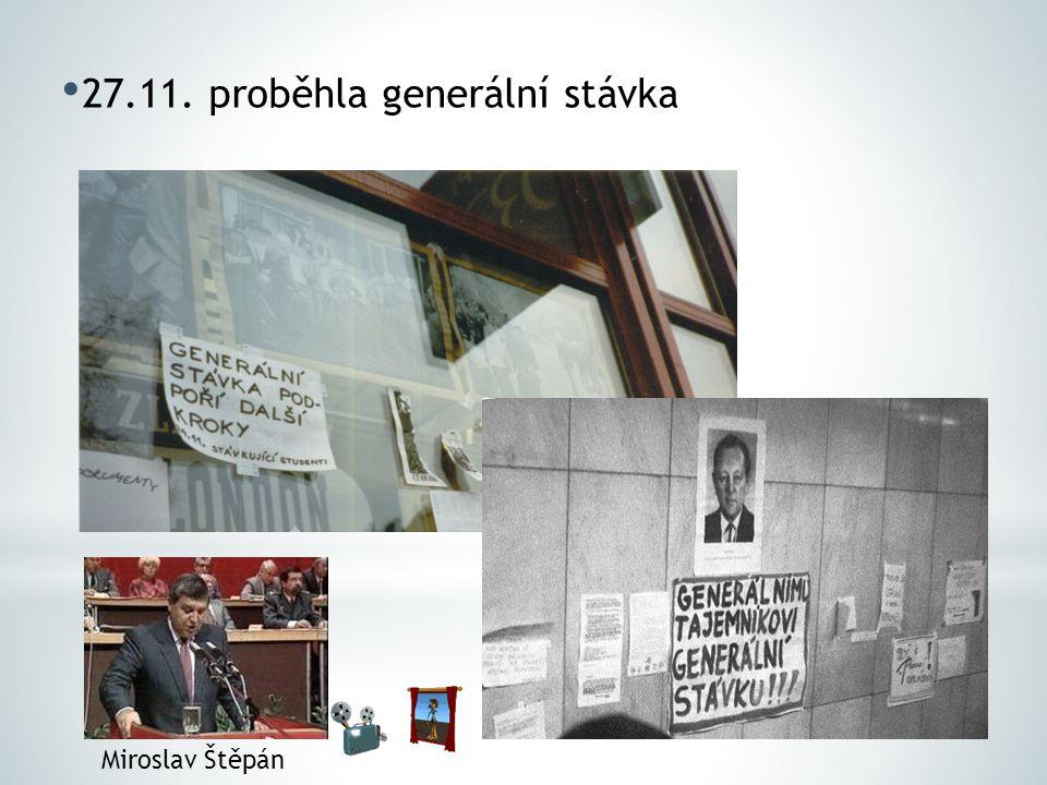 27.11. proběhla generální stávka