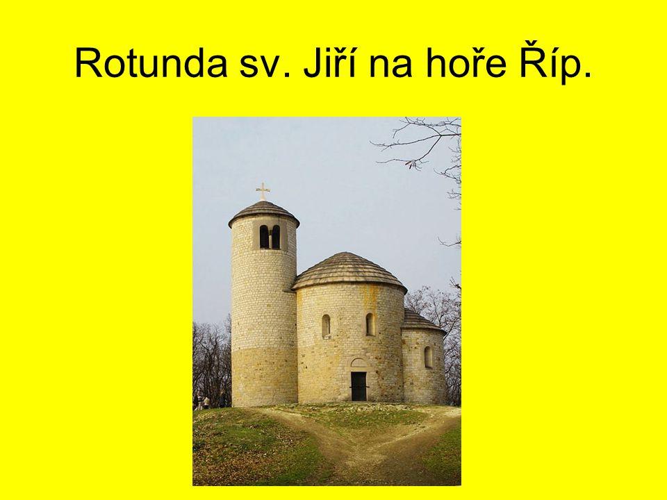 Rotunda sv. Jiří na hoře Říp.