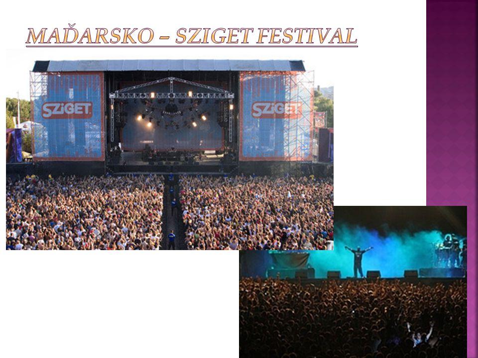 Maďarsko – Sziget Festival