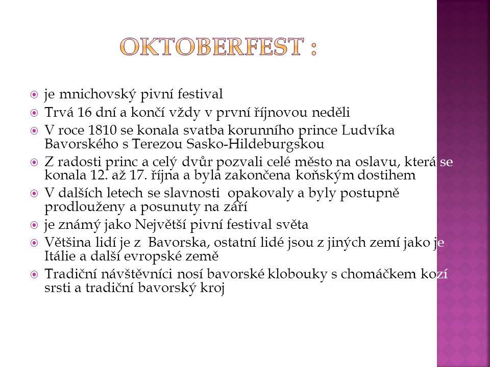 Oktoberfest : je mnichovský pivní festival