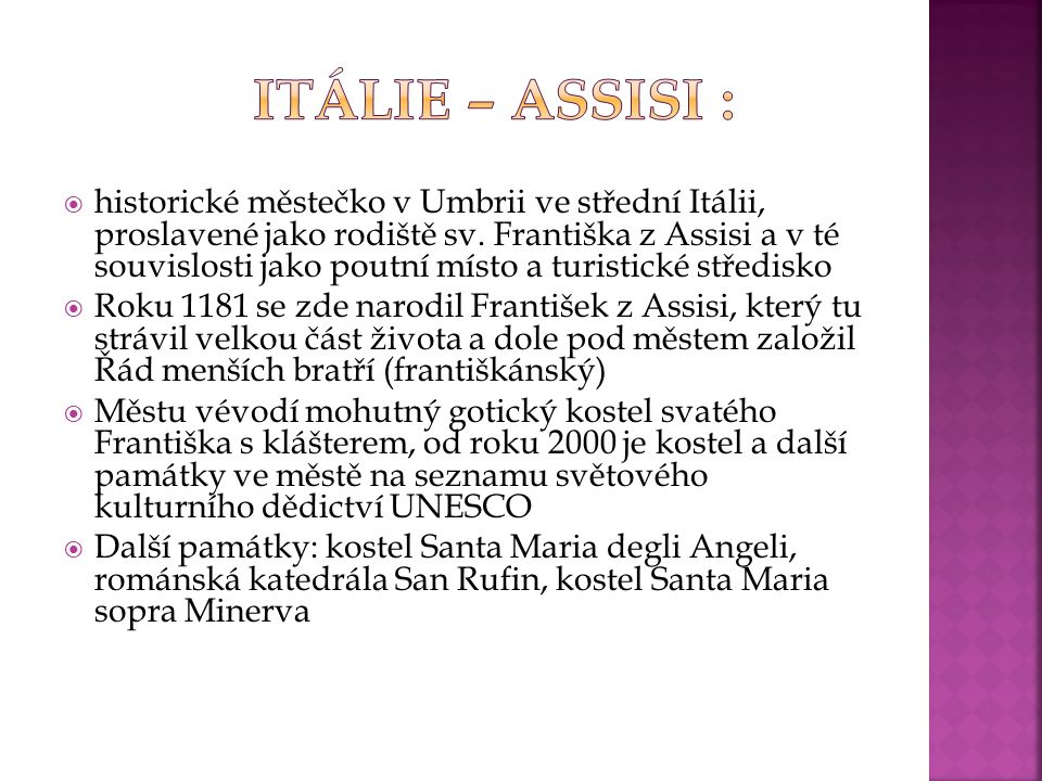 Itálie – Assisi :
