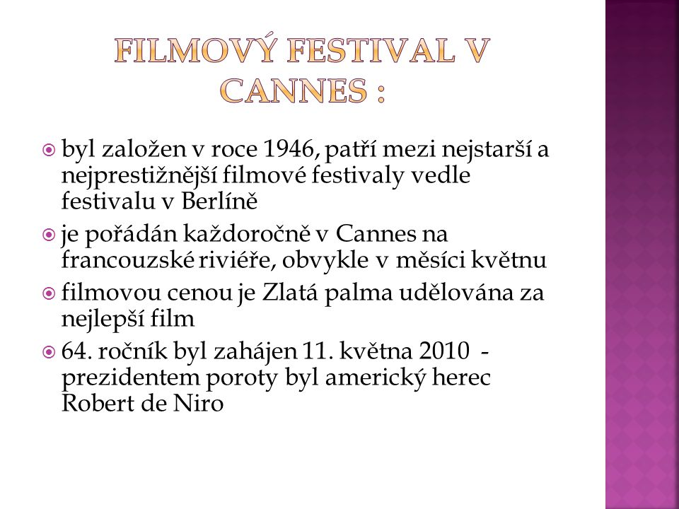Filmový festival v Cannes :