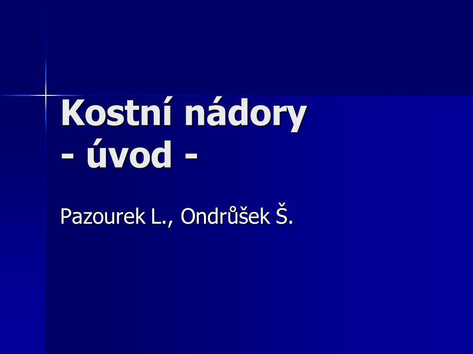 Kostní nádory - úvod - Pazourek L., Ondrůšek Š.